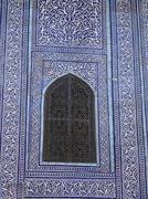 uzbekistan detal of the harem at tash hauli - stock photo