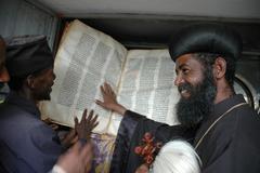 Ethiopia orthodox archbishop gregorius visiting Stock Photos