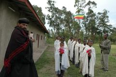 Ethiopia archbishop epiphanos arriving at the he Stock Photos