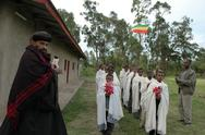 Ethiopia archbishop epiphanos arriving at the he Stock Photos