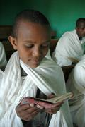 ethiopia orphan boys who are studying to be - stock photo