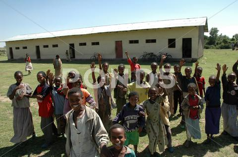 Stock photo of ethiopia rural elementary school run by the in
