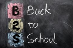 Acronym of b2s - back to school Stock Photos