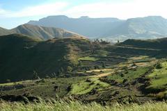 ethiopia landscapes of northern shoa photo 2004 - stock photo