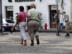 brazil tourist thief pelourinho salvador de 2005 - stock photo