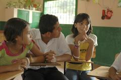colombia seminar in middle school at la paz - stock photo