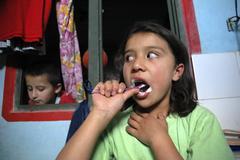 colombia marly juliet of the slum altos de - stock photo