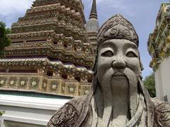 thailand statue and detal inside grounds of the - stock photo