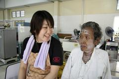 Thailand hiv patients in an aids hospice at Stock Photos