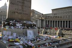 italy the funeral of pope john paul ii at - stock photo
