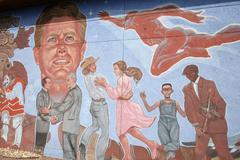 usa mural el paso texas photo 2005 latin america - stock photo