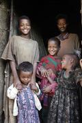 Ethiopia children kids of meganassie gurage kid Stock Photos