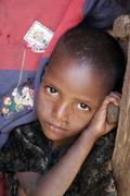ethiopia children kids of meganassie gurage kid - stock photo