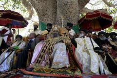 Ethiopia the maryam feast of mary at axum his Stock Photos