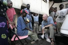 Kenya kurt klueg street clinic dispensing basic Stock Photos