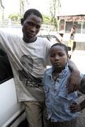 kenya street kids of mombasa africa drugs child - stock photo