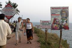 india signs attracting foreign tourists varkala - stock photo
