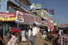 India billboards for communist party of marxist Stock Photos