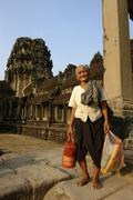 Stock Photo of cambodia angkor wat by ageing aging frame house