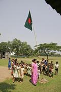 Bangladesh assembly at school attended by the Stock Photos