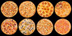pizza set - stock photo