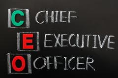 acronym of ceo - chief executive officer - stock photo