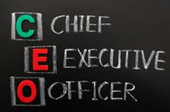 Acronym of ceo - chief executive officer Stock Photos