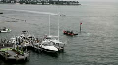 Key West Police Boat on Patrol Stock Footage