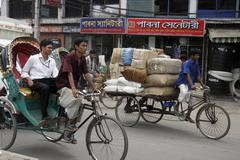Bangladesh cycle rickshaw dhaka use embargoed in Stock Photos
