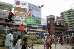 Bangladesh street scene dhaka use embargoed in Stock Photos