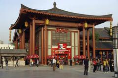 Kiina Kentucky Fried chicke KFC xi shaanxi Kuvituskuvat