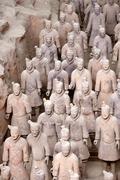 China detal of terracotta warriors xi an shaanxi Stock Photos