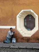 Guatemala man male begging antigua photo latin Stock Photos