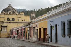 Guatemala street scene antigua photo latin Stock Photos