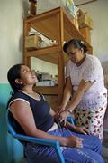 Guatemala santa rita village of returnees in the Stock Photos