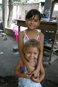 Honduras sisters the slum barrio of chamelecon Stock Photos