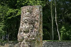 Stock Photo of honduras mayan ruins at copan by latin america