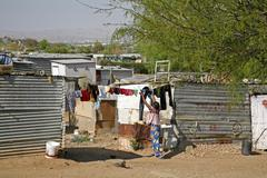 namibia shantytown squatter on the fringe of - stock photo