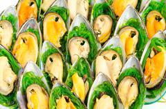 Shellfish buffet Stock Photos