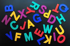 random letters - stock photo