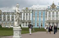 Russia in the grounds of catherine palace selo Stock Photos
