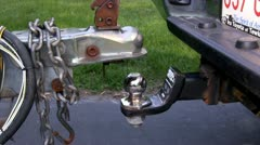 Boat trailer hitch alignment; 5 Stock Footage