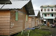 Indonesia temporary housing for tsunami taken in Stock Photos