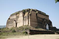 Myanmar base of mingun paya vast buddhist stupa Stock Photos