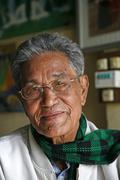 myanmar kachin tribal elder and chief myitkyina - stock photo