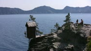 Crater Lake 91 Cleetwood Cove Stock Footage