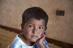 Bolivia boy of cochabamba by 2007 america south Stock Photos