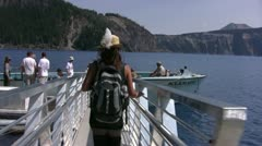 Crater Lake 93 Handy Cleetwood Cove - stock footage