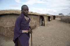 Kenia nuori mies miespuolinen ja lasten lapsia ja Kuvituskuvat