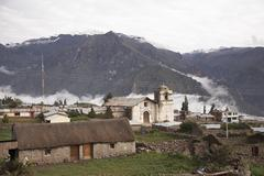 Peru village and church landscape in colca by Stock Photos